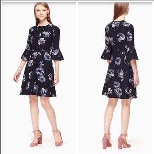 Kate spade night rose crepe dress size 4